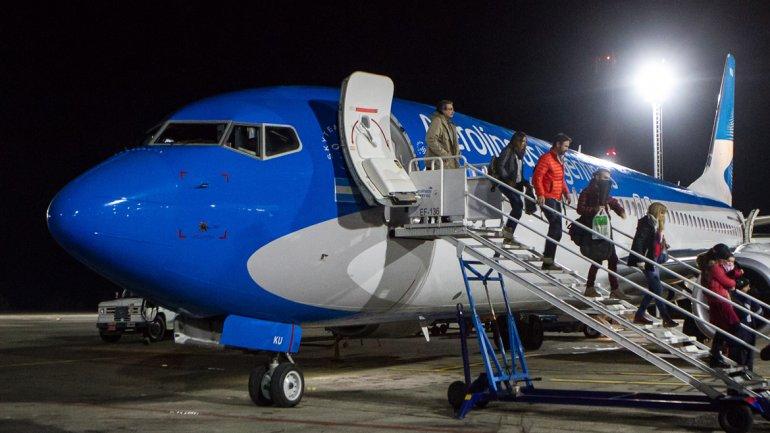 Foto de avión 737 - Chapelco
