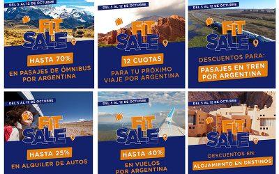 Previaje Argentina, Descuentos del 50% y 12 cuotas sin interés